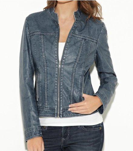 G by GUESS Women's Koa Faux-Leather Jacket, BLUE