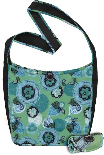 51apQSELNRL ChicoBag Sidekick Cross Physique Reusable Shopping Tote/Grocery Bag with Pouch, Aqua Dreams, 14 x 13.5 Inch Bag/four x 2 Inch Pouch Evaluations