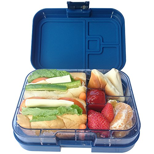 galleon yumlock leakproof bento lunch box meal container with 4 compartments legato blue. Black Bedroom Furniture Sets. Home Design Ideas