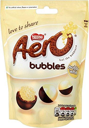 Nestle Aero Bubbles ( Bubbly White)  113g Pouch case of 6