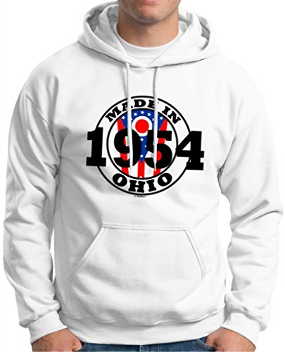 Made Ohio 1954 Birthday Gift State Pride Hoodie Sweatshirt 3Xl White