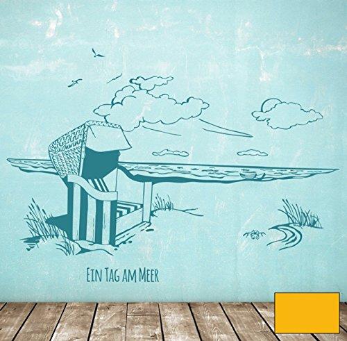 graz-design-adhesivo-decorativo-para-pared-playa-cesta-am-meer-maritim-un-dia-en-el-mar-m1496-determ