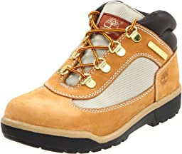 Timberland Leather and Fabric Field Boot (Toddler/Little Kid/Big Kid),Wheat,7 M US Toddler