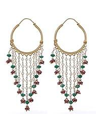 Amethyst By Rahul Popli Multi-Colour Metal Hoop Earrings