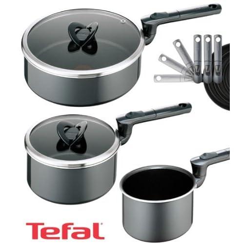 Tefal Compact Enamel Pan Set, 3 Piece