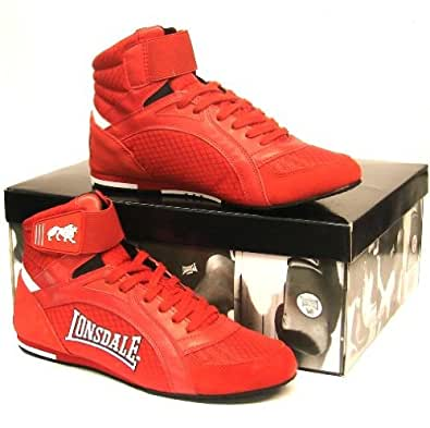Lonsdale London Swift Red Boxing Boots Kids, 9 uk [Apparel]