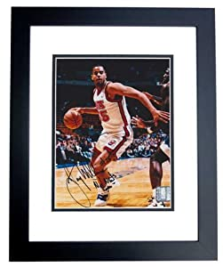 Jayson Williams Autographed Hand Signed New Jersey - Nets 8x10 Photo - BLACK CUSTOM... by Real+Deal+Memorabilia