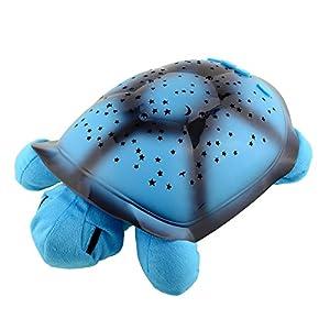Miryo-Luz nocturna Musical con Proyector de cielo de estrellas para dormitorio infantil lindo regalo Navidad, diseño de tortuga, color azul