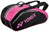 ヨネックス(YONEX) テニス ラケットバック 6 (リュック付き、テニス6本用) ブラック×ローズピンク BAG1632R