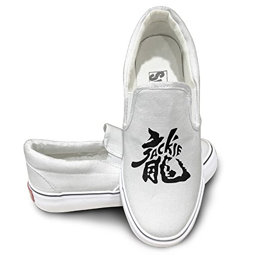 [RCINC Comfortable Jackie Dragon Chan Mode Shoes White Size 38] (Assassins Creed Unity Costume Customization)