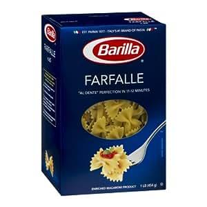 Amazon.com : Barilla Farfalle Bow Tie Pasta 16 oz