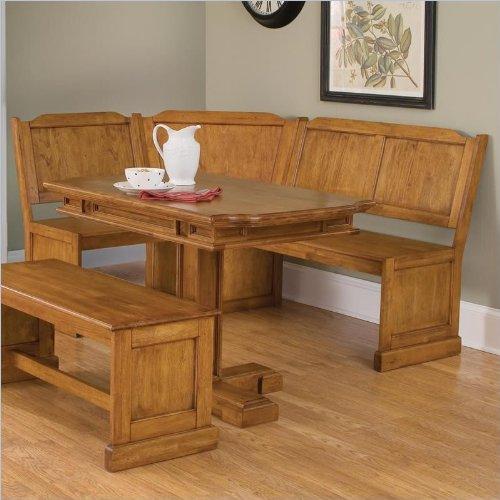 Home Styles 5004-31 Americana Rectangular Pedestal Dining Table, Distressed Oak Finish