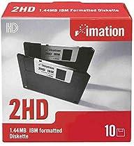 """IMATION Lot de 3 Boites de 10 Disquette DSHD 135 TPI 3,5"""" 1,44 Mo formatée DOS Noir"""
