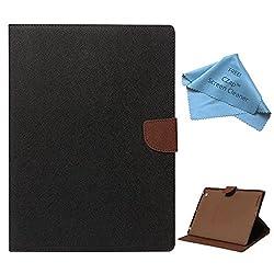 Cubezap Mercury Diary Card Wallet Flip Case Back Cover for Apple iPad 2 3 4 Brown Black