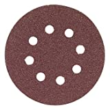 Bosch SR6R082 Random Orbit Sander Hook and Loop 6 Hole Disc 6-Inch 80 Grit Sand Paper, Red, 25-Pack