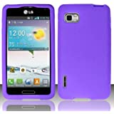 3-in-1 Bundle For LG Optimus F3(Sprint/Virgin Mobile/T-Mobile/MetroPCS) - Soft Rubber Silicone Skin Cover (Purple)+ICE-CLEAR(TM) Screen Protector Shield(Ultra Clear)+Touch Screen Stylus