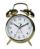 Acctim 12998 Saxon Quartz Alarm Clock, Brass
