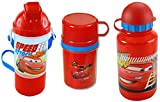 Disney Pixar Cars Gift Set of 3 - Rock N Sip N Snack Canteen Thermos Water Bottle