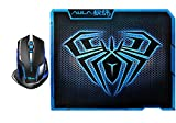 AFUNTA E-3lue E-sport Cobra II Mazer 2500dpi USB LED Optical Wireless Gaming Mouse With AULA 11.8 * 9.2 Inch Gaming Mouse Pad