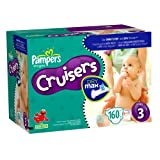 Pampers Cruisers Dry Max Diapers, Size 3, 160 Count ~ Pampers