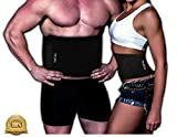 Waist Trimmer Ab Belt For Men and Women, Weight Loss, Melt Cellulite, Trim and Shape Waist, Extra Wide, Burn Belly Fat, Back Support, Melt Fat, Ab Compression, FREE E-book, 100% Money Back Guarantee