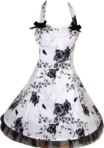 Sexy White Black Floral Evening Party Prom Bows Dress