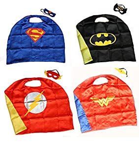 Superhero Superman Kids Girl And Boy Cape and Mask Costume for Child