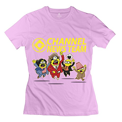 Youshine Women's Despicable Me Minions Tee Shirts Pink