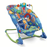 Fisher-Price Deluxe Reclining Infant To Toddler Rocker Seat With A Fold-Out Kickstand, Alpha Fun
