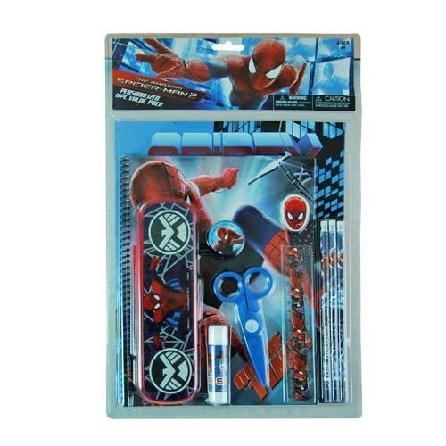 Spiderman Value Pack Pencil Case [1 Retail Unit(s) Pack] - 68093MZ