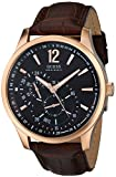 Guess Men's U10627G1 Brown Leather Quartz Watch with Brown Dial
