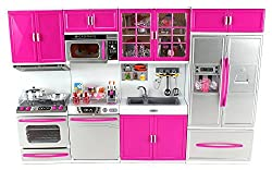 Power Trc My Modern Kitchen 32 Full Deluxe Kit Battery Operated Toy Doll Kitchen Playset W/ Lights, Sounds, Perfect For Use With 11 12