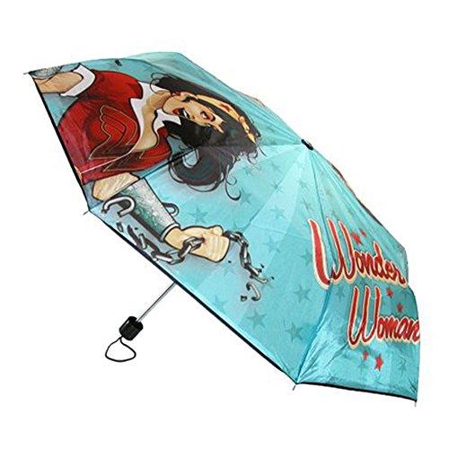 BioWorld Womens DC Comics Wonder Woman Compact Umbrella 0