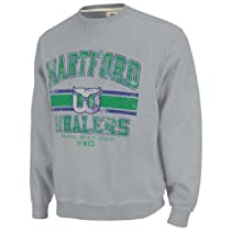 Hartford Whalers Grey Team Classic Fleece Crewneck Sweatshirt