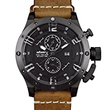 buy Brown Sniper Luxury Quartz Pilot Sports Mens Wrist Watch Waterproof