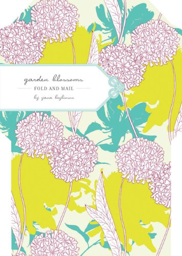 Garden Blossoms Fold & Mail Stationery