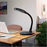 Verilux Original Natural Spectrum Desk Lamp, Adjustable EasyFlex Gooseneck, Hi/Low Switch, Optix Glare-Control Diffuser, Graphite