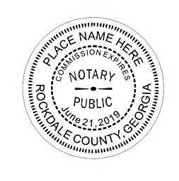 NEW IMPRUE Round Self-Inking NOTARY SEAL RUBBER STAMP - Georgia