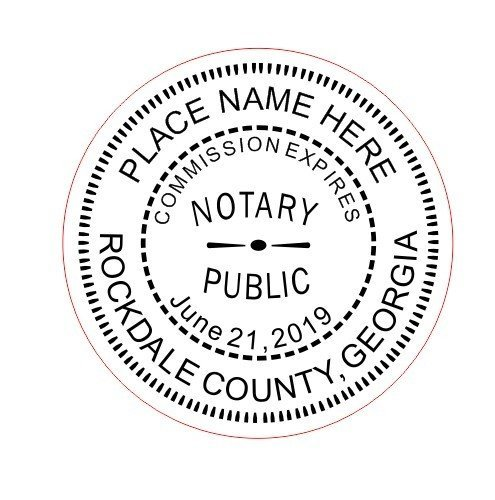 NEW IMPRUE Round Self-Inking NOTARY SEAL RUBBER STAMP - Georgia (Notary Stamp And Seal compare prices)