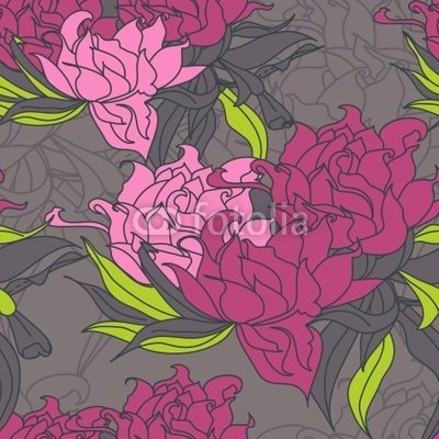 """Wallmonkeys Peel and Stick Wall Decals - Floral Seamless Wallpaper - 36""""H x 36""""W Removable Graphic"""