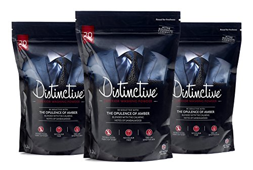 Distinctive® Superior Washing Powder multi pack deal Masculine Amber & Sandalwood fragrance
