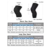 Knee Leg Support Gear with Pads,UCMDA Strengthen Breathable Kneepad Honeycomb Pad Crashproof Antislip Basketball Leg Knee Long Sleeve Protective Pad Kneelet Protector--3 Sizes Available,Pack of 2