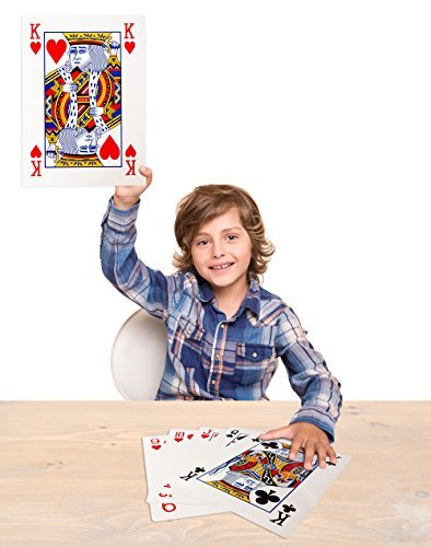Mega Jumbo Face Extra Large Playing Cards- 11