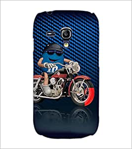 PrintDhaba Bike Rider D-3819 Back Case Cover for SAMSUNG GALAXY S3 MINI (Multi-Coloured)