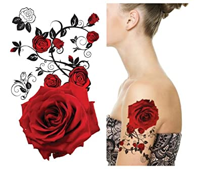Supperb® Temporary Tattoos - Red Roses
