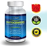 Metnutri Phytoceramides Ceramide PCD ® Plant Derived (From Rice) - 100% Gluten Free All Natural Skin Restoring Skincare Supplement with Vitamin A, C, D & E, Eliminates Wrinkles, Reduces Fine Lines, Strengthens Hair Skin Nails | 40mg, 30-day Capsule Supply | Bonus Anti-aging Skin Care Guide