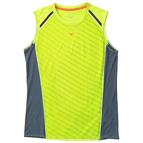 (ミズノ)MIZUNO(ミズノ) ランニングノースリーブシャツ [メンズ] J2MA5071 37 ライムグリーン M