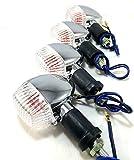 カワサキ タイプ ウインカー 4個 セット クリアー アンバー 汎用 エストレヤ バリオス 等 (クリアー)