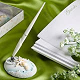 Finishing Touches Collection Beach Themed Wedding Pen and Holder Set, 1 piece
