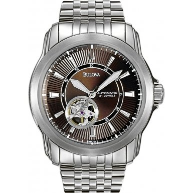 Bulova 96A101 Mens Mechanical Silver Watch